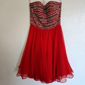 Sherri Hill Cocktail Dress - Red